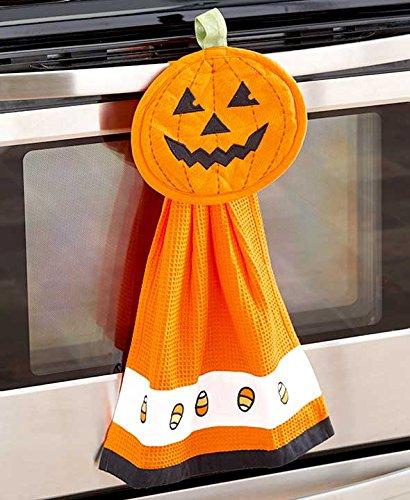 2-Pc Halloween Kitchen Set Orange Pumpkin