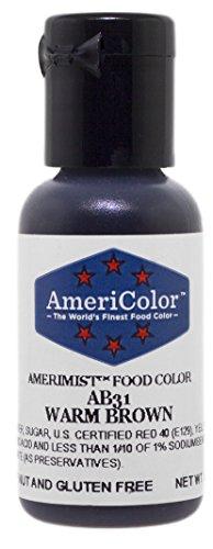 AmeriColor AmeriMist Warm Brown Airbrush Food Color 65 oz