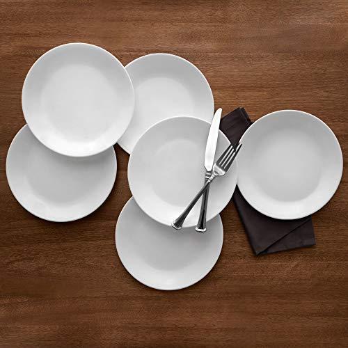 Corelle Livingware Winter Frost White 1025 Dinner Plate Set of 6