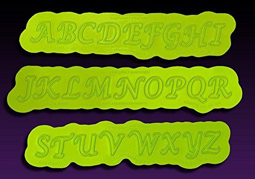 Calligraphy Uppercase Flexabet Letter Mold by Marvelous Molds