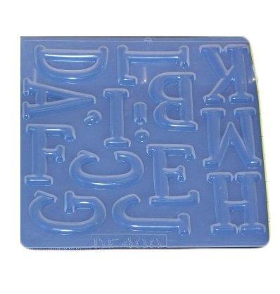 Large alphabet letters reusable plastic mold set 400401