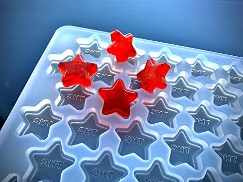 THC Star Mold - Large - Half Sheet - 75 mL - 91 Cavities