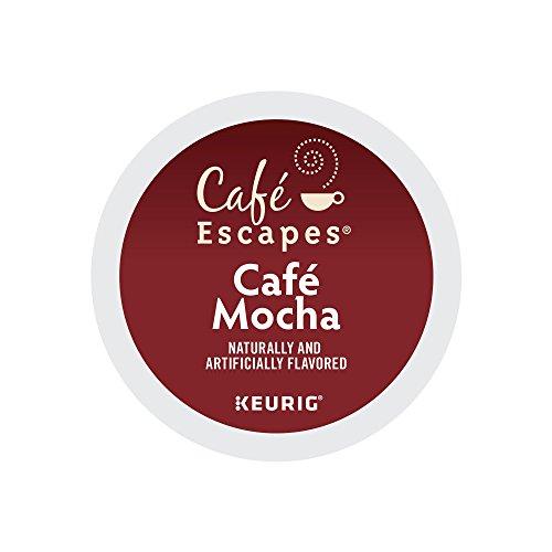 Cafe Escapes Cafe Mocha Keurig Single-Serve K-Cup Pods 052 Oz 24 Count Pack of 4