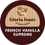 Gloria Jeans Coffee French Vanilla Supreme 96 K-Cups Flavored