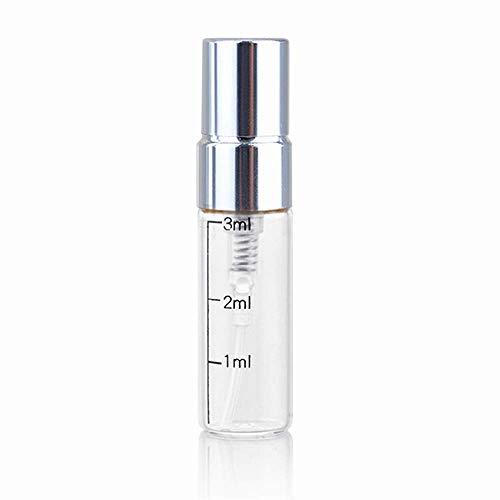 10 PCS 3ml Mini Spray BottlesPerfume Sample VialsFine Mist SprayerEmpty Glass Bottle With Atomizer Silver