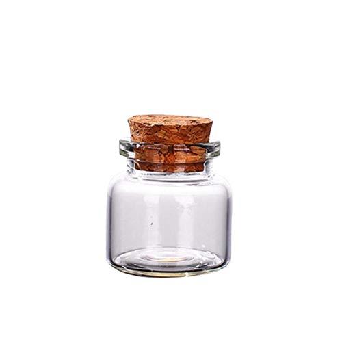 smallwoodi Glass Bottles Water Bottle Water Cup 5Pcs 10152025304070ml Clear Cork Stopper Wishing Empty Glass Bottle Vials 10ml