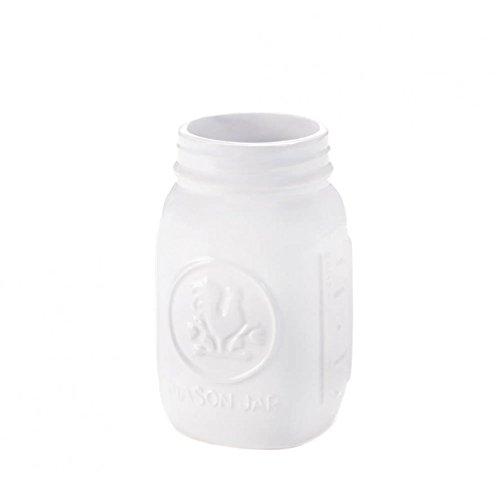 Decorative Mason Jar Dolomite Mason Jars Regular Mouth Containers - White