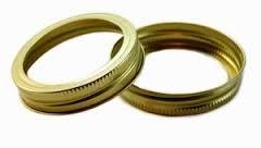Generic made by Ball REGULAR Mason Jar Canning GOLD BandsRings 12 Bands 1 dozen 70mm size Bands only no lids Bulk