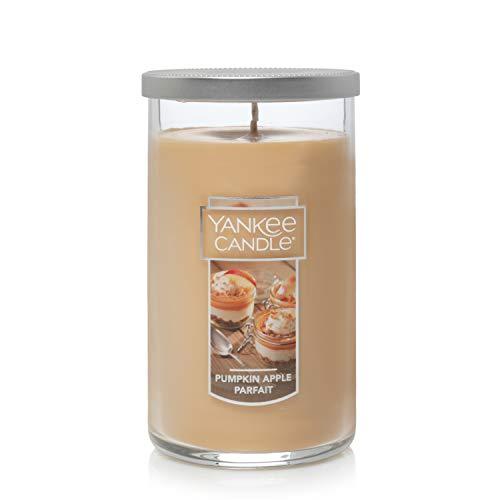 Yankee Candle Medium Pillar Jar Pumpkin Apple Parfait Scented Premium Grade Candle Wax with up to 110 Hour Burn Time