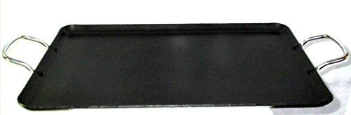 Uniware Large 4 mm Non-Stick Heavy Gauge Double Griddle19 x 116 Inch Black
