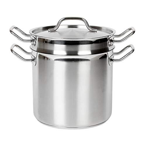 Restaurant Essentials 12 quart 188 stainless steel pasta cooker comes in each