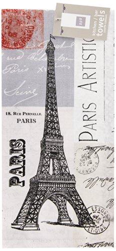 Paperproducts Design 35017 Paris Eiffel Tower 100-Percent Cotton KitchenBar Towel