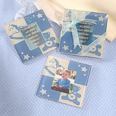 BuW Cute Baby Blue Bear Coaster Set of 2
