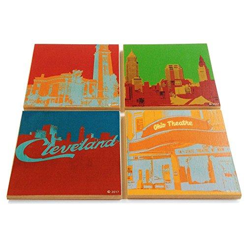 Cleveland Handmade Wooden Coaster Set