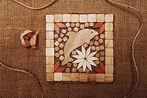 Handmade wooden coaster for hot ware kitchen decoration