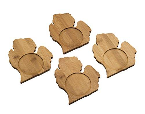 Arrowhead Bay Real Bamboo Coaster Set4 Michigan design
