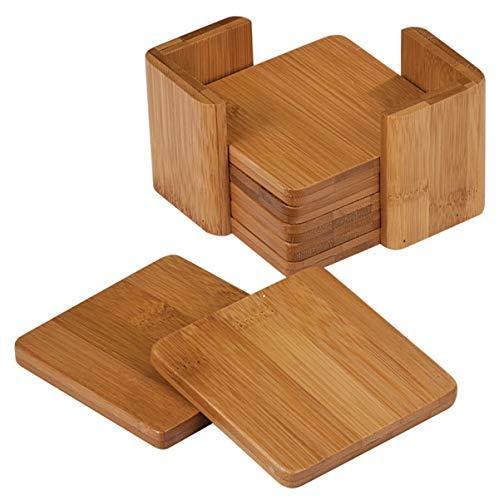 Square Bamboo Coaster Set - 375