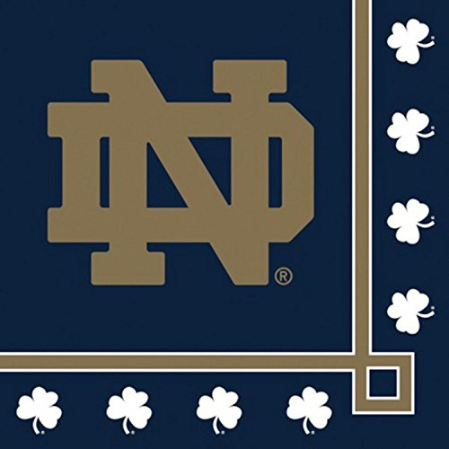 240 NCAA Notre Dame Fightin Irish 2-Ply Tailgating Party Beverage Napkins