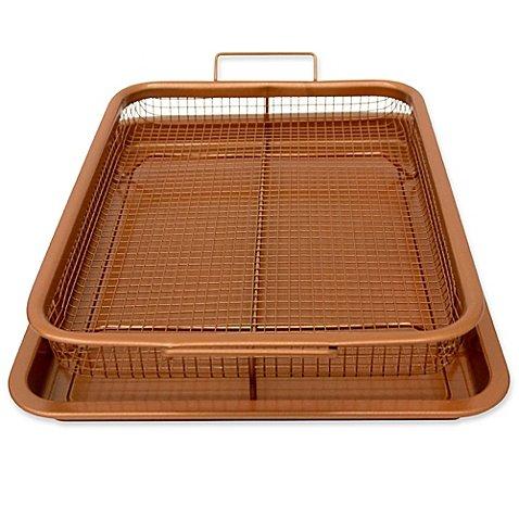 Copper Crisper Tray 13-Inch x 11-Inch Nonstick