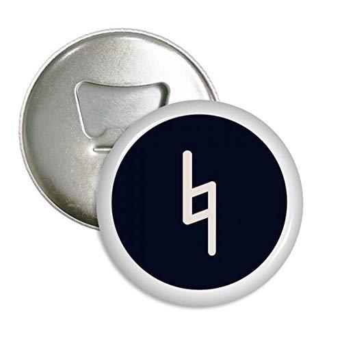 White Music Flat Signature Black Bottle Opener Magnet Round Badge Button 3pcs