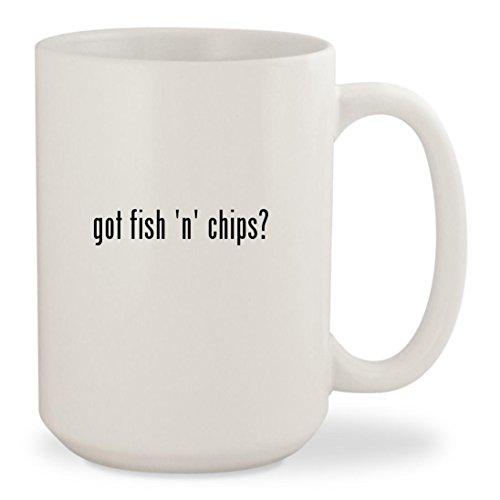 got fish n chips - White 15oz Ceramic Coffee Mug Cup
