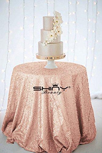 Ready to Ship 120 -Blush-Sequin Cloth TableCloth Sequin Table Cloth Sparkly- Table Sequin Linens Gold Sequin Silver Sequin Blush