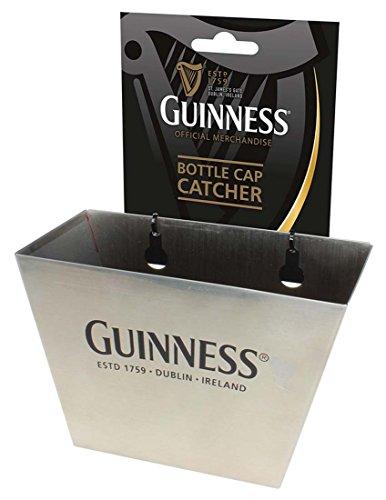 Silver Guinness Bottle Cap Catcher With Black Dublin – Ireland Text