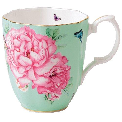 Royal Albert Friendship Vintage Mug Designed by Miranda Kerr 135-Ounce Green