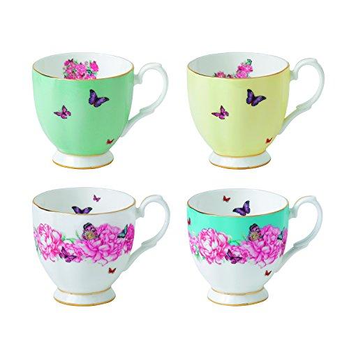 Royal Albert Miranda Kerr Vintage Mugs Set of 4 105 oz