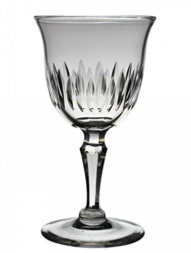 6 Retro Clear Dessert Wine GLASSES Gadrooned Party Antique Elegant English Circa 1900 LS