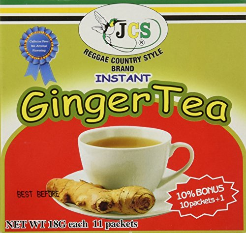 1 X JCS Instant Ginger Tea - Product of Thailand 18G 11 PACKS