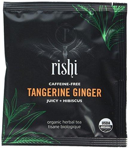 Rishi Tea Ginger Tea Bags Organic Tangerine 50 Count