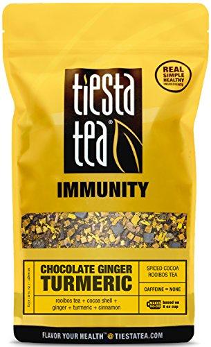 Spiced Cocoa Rooibos Tea  Chocolate Ginger Turmeric by Tiesta Tea  Caffeine Free  Loose Leaf Herbal Tea Immunity Blend  Non-GMO  1 Lb Bulk Bag