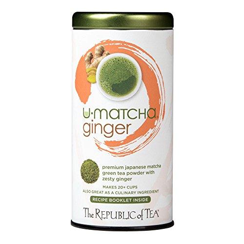 The Republic Of Tea U-Matcha Ginger Tea 15 Ounces  20 Cups Matcha Tea Powder