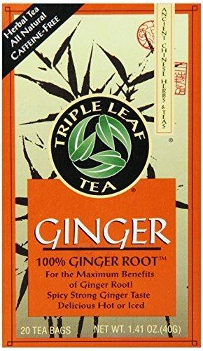 Triple Leaf Tea Ginger 20 Tea Bags Pack of 6