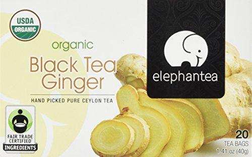 elephantea Organic Black Ginger Tea 141 Ounce