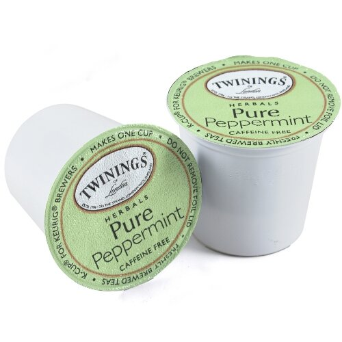 Twinings of London Pure Peppermint Tea K-Cups for Keurig 48 Count