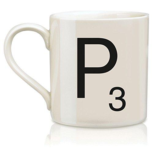 P Scrabble Alphabet Mug Coffee Hot Beverage Cup