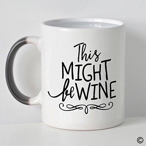 MsMr Morphing Coffee Mug This Might Be Wine Coffee Mug Heat Changed Color Mug 11oz Black