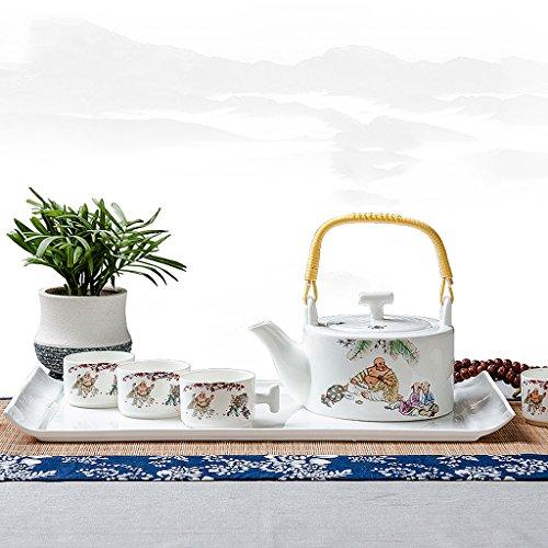 Bone china household ceramic teapot teacup tray set