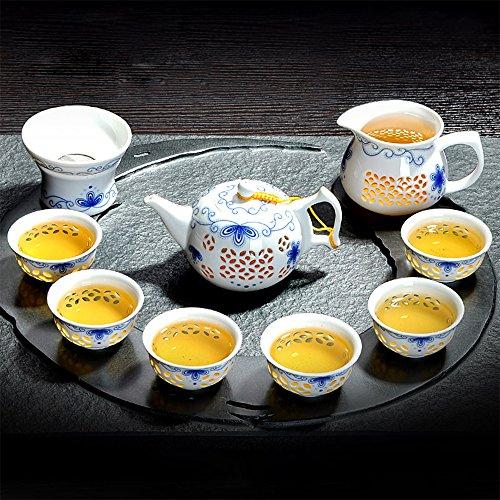 XDOBO Imported Vintage Chinese Japanese Style Porcelain Handmade Kung Fu Tea Set 10-pack 1