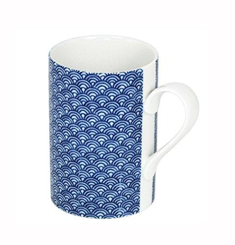 8 oz Tea Cup Blue Waves