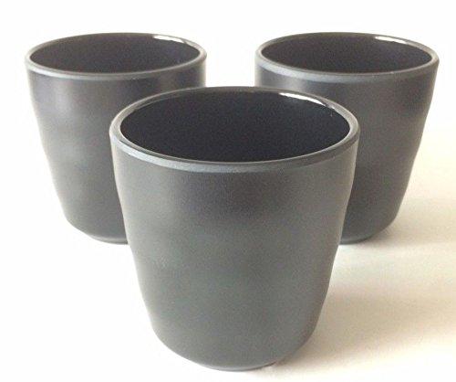 Lucky Star Melamine Melmac Sushi Hot Water Drink Tea Cups Tumbler 35 8 oz Black 12