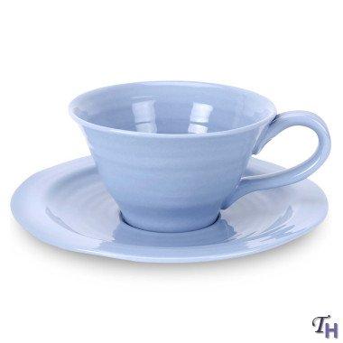 Portmeirion Sophie Conran 8 oz Tea Cup Saucer - Forget-Me-