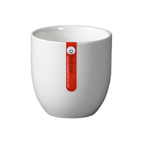 Set of Six White 8 oz Tea Cups