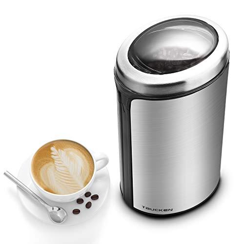 Coffee Grinder - Taucken Ultimate Electric Coffee Grinder Coffee Bean Grinder Stainless Steel Blade Coffee Grinding Coffee Beans Durable Portable Stainless Steel Blades Grinder