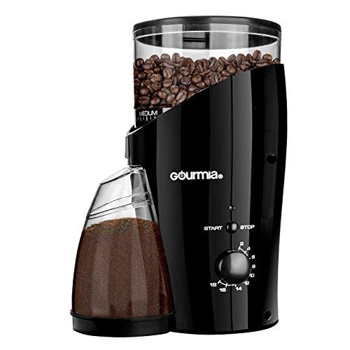 Gourmia GCG185 Electric Burr Coffee Grinder Heavy Duty Steel Grinding Disc 20 Coarse  Fine Settings 2-18 Cups - 110V