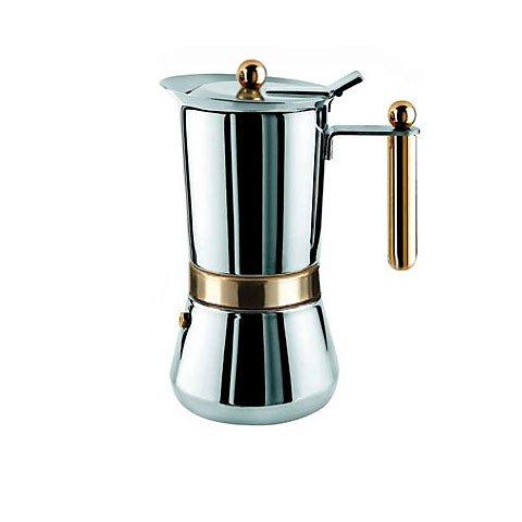 Vev-Vigano Vespress Oro 4-cup Stainless Steel Stovetop Espresso Maker