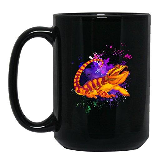 Bearded Dragon Coffee Mugs - Bearded Dragon Tea Cup Cool Design Mug 15oz Black Gift For Friend Family Coffee Mug Black 15oz