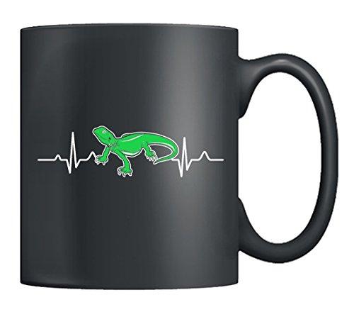 Bearded Dragon Mug Ceramic - Bearded Dragon Heartbeat Coffee Mug Tea Cup 11oz Black Best Gifts For Family Black